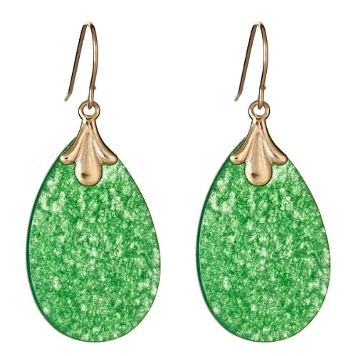 14kt Jade Dangle Earrings